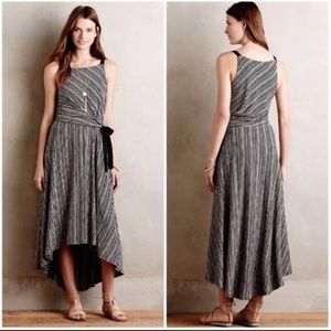 Anthropologie Maeve Salsola High Low striped dress